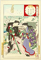 Chikanobu Toyohara 1838-1912 - Snow Moon Flower - Kannon to Rescue