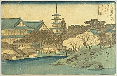 Hiroshige Ando 1797-1858 - Edo Meisho no Uchi - Asakusa