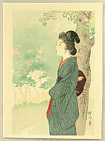 Kogyo Terazaki 1866-1919 - Fresh Green Leaves
