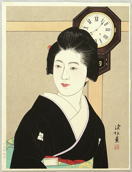 Shinsui Ito 1898-1972 - Clock and Beauty II