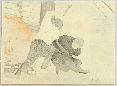 Toshikata Mizuno 1866-1908 - Rescue in the Storm