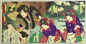 Eagle, Magician and Beauties - Kabuki