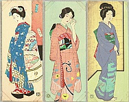 Hakuho Hirano 1879-1957 - Three Beauties
