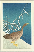 Goose and Reeds - Koson Ohara - 1877-1945