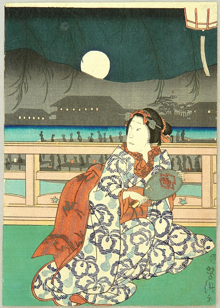 Yoshitaki Utagawa 1841-1899 - Summer Night