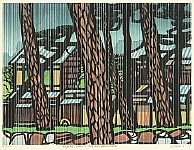 Clifton Karhu 1927-2007 - Famous Places of Kyoto - Tadasugawara