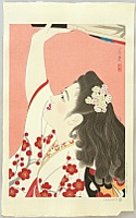 Tatsumi Shimura 1907-1980 - Five Figures of the Modern Beauties - Battledore