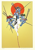 Hideo Takeda born 1948 - Genpei - Dannoura Genji - Tattooed Samurai and The Sun