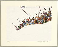 Hideo Takeda born 1948 - Genpei -Yoritomo raises his battle standard
