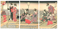 Toyohiro Utagawa 1773-1828 - Beach Party  (1917 Copy)