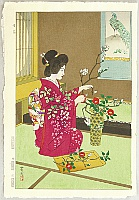 Shiro Kasamatsu 1898-1992 - Flower Arranging