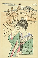 Yumeji Takehisa 1884-1934 - Small Works by Yumeji  - Countryside Beauty