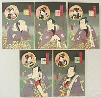 Kunisada Utagawa 1786-1865 - Five Chivalrous Men and Women