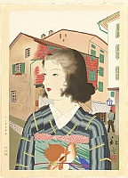 Japanese Girl in Port City - Kindai Reijin Gafu