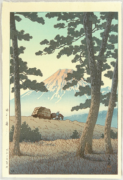 Hasui Kawase 1883-1957 - Selection of Views of the Tokaido - Dusk at Tagonoura Beach