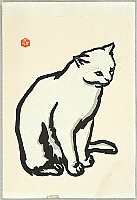 Nisaburo Ito 1910-1988 - Sitting Cat