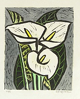 Sachio Suzuki fl.ca. 1960 - 80s. - Calla Lily
