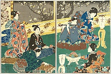 Kunisada Utagawa 1786-1865 - Spring Evening