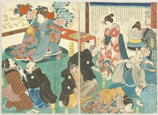 Kuniyoshi Utagawa 1797-1861 - Famous Doctor - Treatment of Difficult Illness