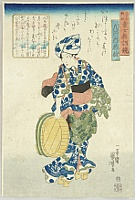 Kuniyoshi Utagawa 1797-1861 - 36 Poets -  Oshikochi no Mitsune