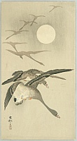 Koson Ohara 1877-1945 - Geese and the Moon