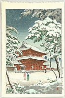 Zojo-ji Temple in Snow