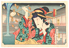 Yoshikazu Utagawa active ca.1850-70 - Money and Courtesan - Yonjuhakkei no Uchi
