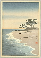 Yoshimune Arai 1873-1945 - Sea Shore and Pine Trees