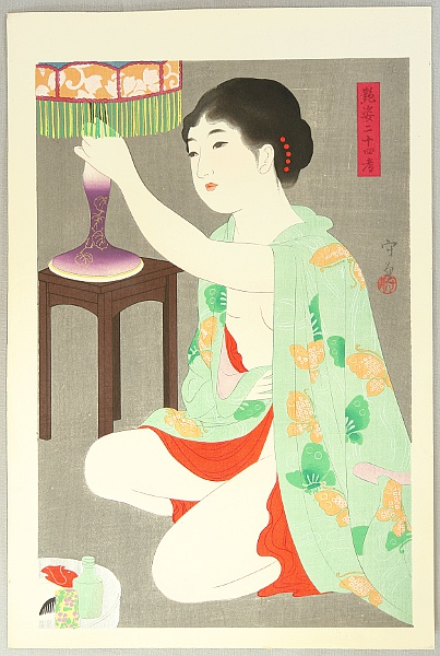 Morikane Narita fl.ca. 1930s - Twenty-four Figures of Charming Women - Lantern
