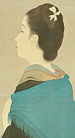 Kiyokata Kaburagi 1878-1973 - The Manners and Customs of the Beauties in Meiji Era - Moon