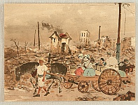 Unknown - Kanto Earthquake - Survivors on a Cart