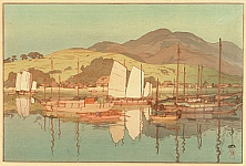 Hiroshi Yoshida 1876-1950 - Waiting for the Tide - The Inland Sea