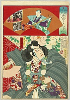 Kunichika Toyohara 1835-1900 - Actors, Funny Talks, Popularity Contest - Benkei