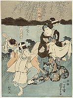 Kuniyoshi Utagawa 1797-1861 - Dancers at Riverside
