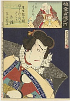 Kunichika Toyohara 1835-1900 - Tokubei - The Hundred Roles of Baiko