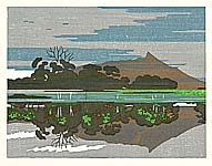 Yasushi Omoto (Ohmoto) born 1926 - Twenty-one Views of Ezo - Ohnuma Lake and Mt. Komagatake