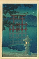 Hasui Kawase 1883-1957 - The Star and Moon Lit Night - Miyajima