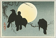Korin Ogata 1658-1716 - Crows and the Moon