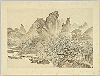 Gyokuran Ike-no- 1728-1784 - Mountain Villa in China