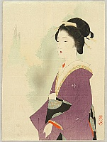 Keishu Takeuchi 1861-1942 - Lady in Purple - Edo Geisha