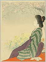Keishu Takeuchi 1861-1942 - Hazy Weather in Spring - Hanagumori