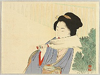 Keishu Takeuchi 1861-1942 - Hagoita in New Year Day