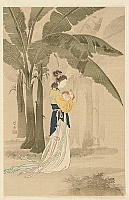 Kogyo Terazaki 1866-1919 - Chinese Beauty and Banana Tree