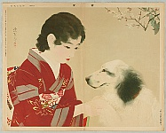 Shinsui Ito 1898-1972 - Beauty and Dog