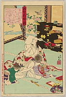 Ginko Adachi fl.ca.1860-1890s - Mirror of the Famous Women in Today and in the Past