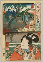 Kuniyoshi Utagawa 1797-1861 - Set of Modern Images of Provinces- Mighty Kid and Prince Ushiwaka