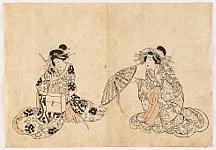 Sketch from Kunisada Studio - Two Beauties
