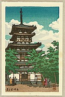 Yakushi Temple Pagoda in Nara
