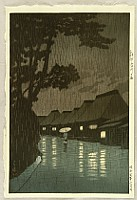 Selection of Views of the Tokaido - Rainy Night at Maekawa