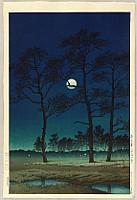 Winter Moon over Toyama Plain